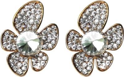 Shreya Collection Spring Sparkle-White Alloy Stud Earring