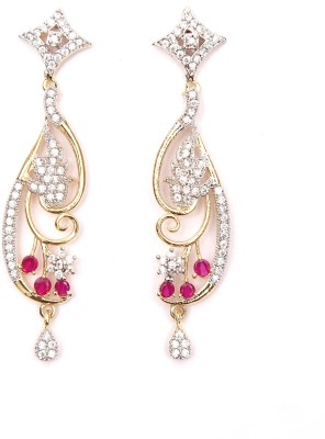 Aadhya Jewels American Diamond Cubic Zirconia Alloy Drop Earring