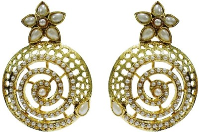 Deco Junction Bollywood style Earing with pearl Brass Chandbali Earring