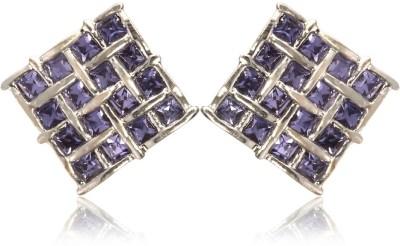 Eclat 514278RTN Swarovski Crystal Alloy, Brass Stud Earring