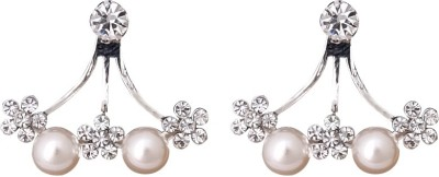 Super Drool Crystal And Pearl Alloy Stud Earring