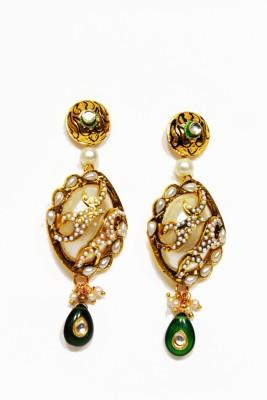 moKanc Unique Enamel Enamel Jhumki Earring