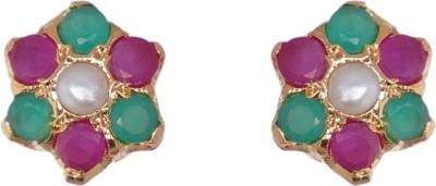 Janki Jewellers Party Style Cubic Zirconia Alloy Stud Earring