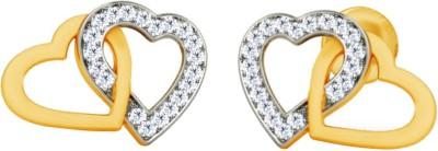JacknJewel Enchanting Heart Yellow Gold 18kt Diamond Stud Earring