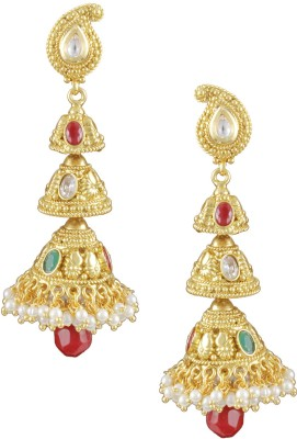 Karatcart Traditional Copper Jhumki Earring