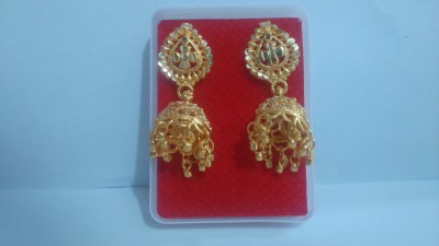 Abhi solid golden earning Yellow Gold Earring Set