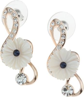 Golden Peacock Style Diva Alloy Stud Earring