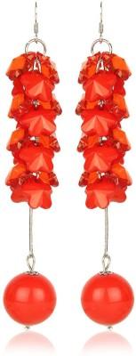 Moedbuille Red Drop Earrings [MBER00347] Cubic Zirconia Alloy Dangle Earring