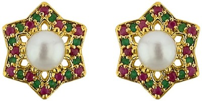 JPearls Shining Star Mother of Pearl Alloy Stud Earring