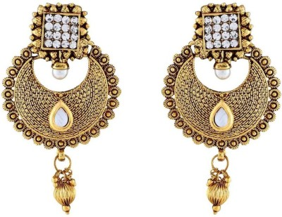 Jewlot Nice Looking Kundan 1074 Metal Chandbali Earring
