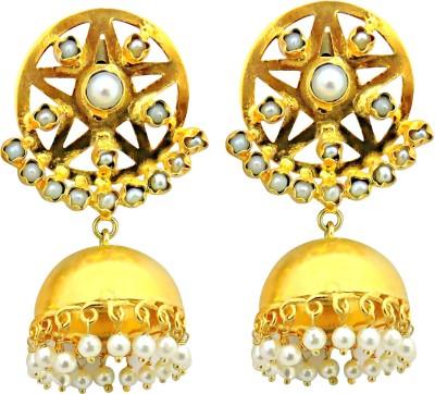 Cultural Fusion Bollywood style Alloy Jhumki Earring