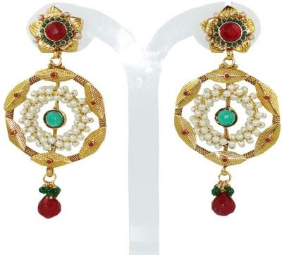 Anjan Ravishing Multicolor Golden Alloy Drop Earring