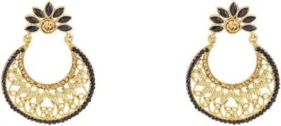 Art Nouveau Partywear Wedding Fashion Brass Chandelier Earring
