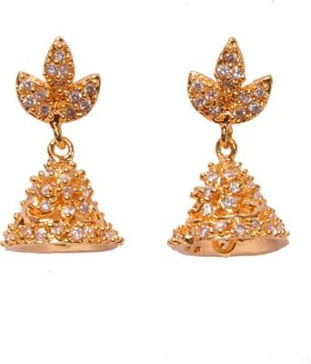 PFJ PFJ3037-EARRING Cubic Zirconia Brass, Copper Drop Earring