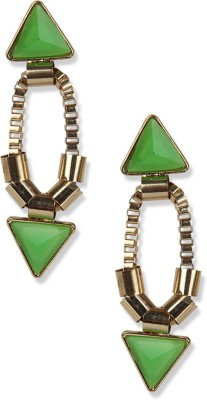 Aimez Olive Green Cutout Metal Drop Earring