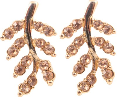 Itzmyfashion Golden stone Alloy Drop Earring
