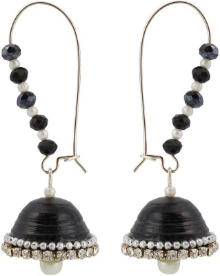 TRENDY DEALS Hancrafted Artificial Kidney Hook Jhumka Beads Paper Jhumki Earring