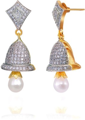 Fashion Fusion ES017007A Ananya Cubic Zirconia Brass, Alloy Drop Earring