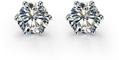 Caratcube Solitaire Stud Earrings Crystal Alloy Stud Earring