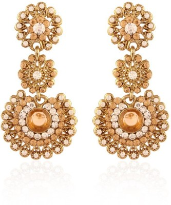 I Jewels Traditional Gold Plated Alloy Drop Earring