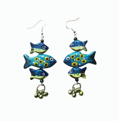 Juhi Malhotra Cool And Fishy Wood Dangle Earring
