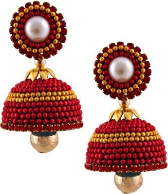 RR ENTERPRISES Hancrafted Ballchain Multicolor Jhumka Paper Jhumki Earring