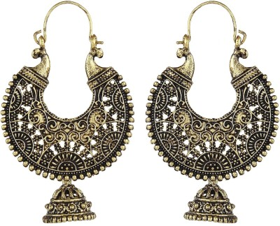 Crazytowear Antique design Golden Metal Alloy Dangle Earring