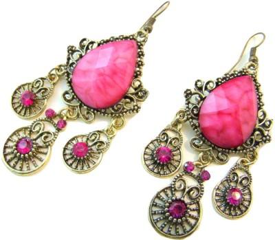 Store Utsav Flirty Pink Alloy Dangle Earring