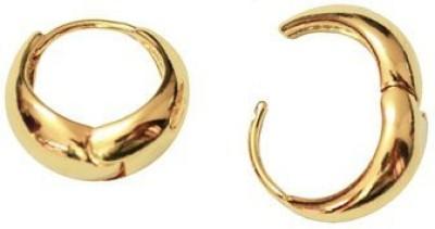 GemRoute Salman Khan Golden Kaju Bali Alloy Hoop Earring