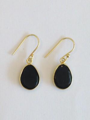 Aarohee Black Elegance Onyx Sterling Silver Dangle Earring