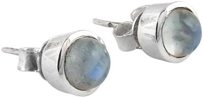 Miska Silver Ethnic Moonstone Silver Stud Earring