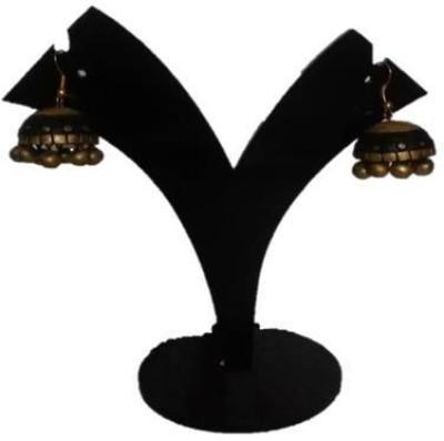 DEET black dancing Terracotta Jhumki Earring