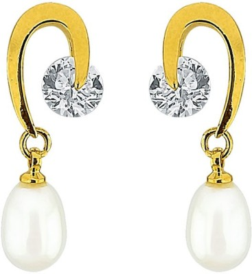JPearls Fascinating Mother of Pearl Alloy Drop Earring
