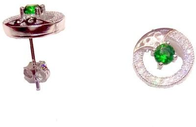 Vummidi Bangaru Chetty & Sons DAZZLING STONE Sterling Silver Stud Earring