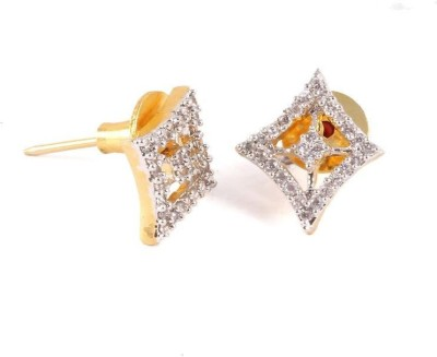 Vanshika Jewels square shaped AD studded Alloy Stud Earring