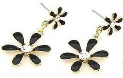 Girlz! Cute Flower With Crystal Alloy Drop Earring