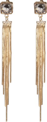 Divitha Allure Fashion fusion drop down architectural trendy pair from divitha Allure. Alloy Drop Earring