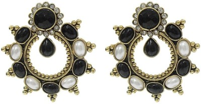 Deco Junction Black & White Alloy Drop Earring