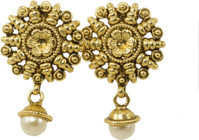 Jewelskaro Antique Gold Plated Copper Drop Earring