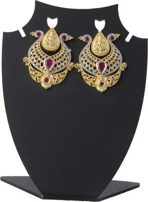 Aaina Home Decor Designer Cubic Zirconia Brass Stud Earring