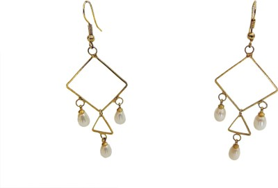 W Stop Everyday Pearl Mother of Pearl Dangle Earring
