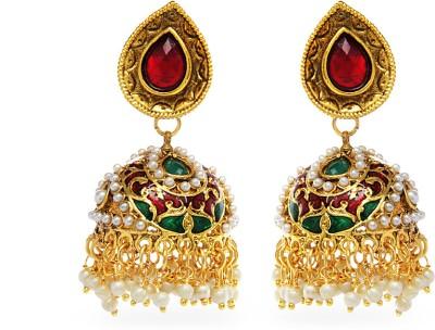 Aamoye Temple Earring in Gold Finish Alloy Jhumki Earring