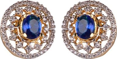 Gazal Jewels Flower Zircon Copper Hoop Earring