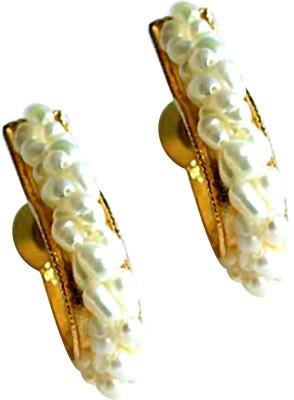 Surat Diamond Bejeweling Pearl Balis Pearl Metal Hoop Earring