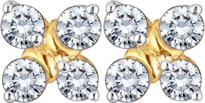 Glitz Design 0.46 Ctw Quad Yellow Gold 14kt Diamond Stud Earring