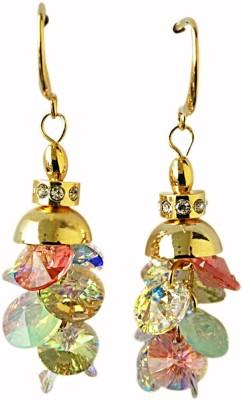 Dream Jewels Multi Floral Swarovski Crystal Zinc Dangle Earring