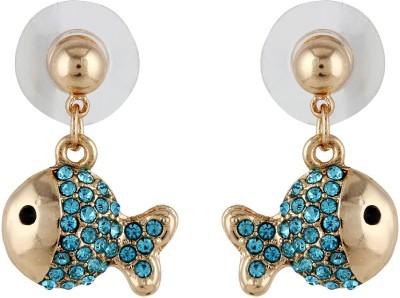 Akshata Style Diva Crystal Alloy Drop Earring