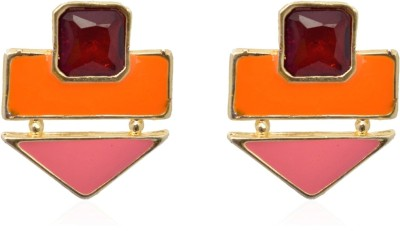 Crunchy Fashion Color Rush Orange Blush Alloy Stud Earring