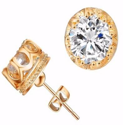 Stile Rose Gold Alloy Stud Earring