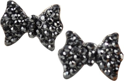 Gliteri Bow Shaped Sparkling Alloy Stud Earring